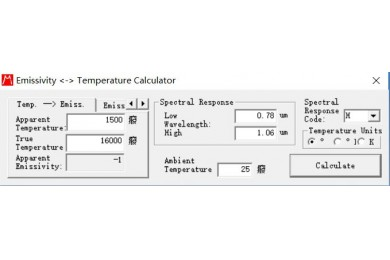 emissivity calculator